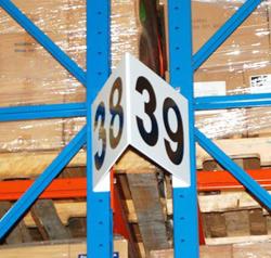 Custom Aisle Signs For Warehouse Racks Shelving Dock And Bulk Storage